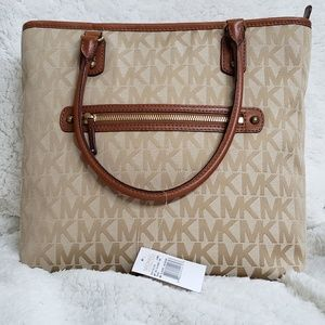 Michael Kors Signature Logo Tote Handbag
